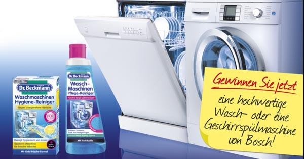 Dr. beckmann gewinnspiel: bosch waschmaschine gewinnen