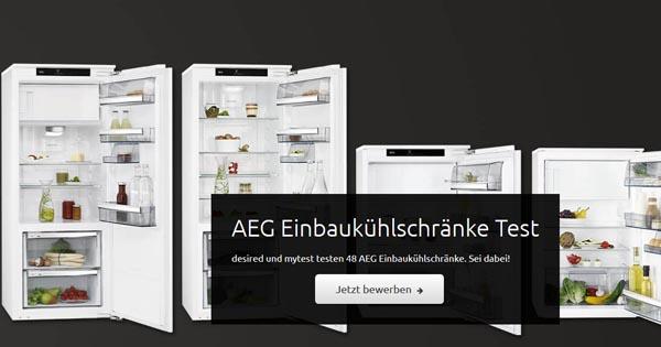 48 Produkttester für AEG Einbaukühlschränke gesucht