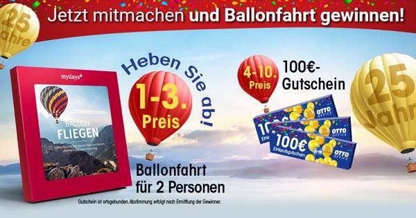 Otto Office Ballonfahrt Für 2 Personen Und Gutscheine Im Gesamtwert